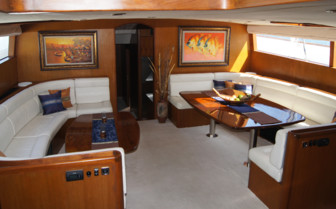 Picture of the saloon onboard SY Asia