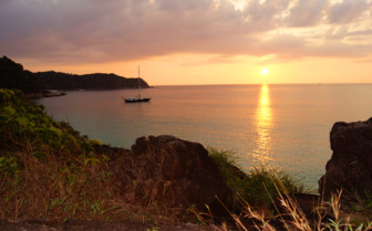 Picture of the sunset with SY Asia