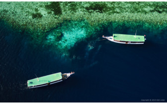 Picture of the Dive Boats at the Reef at Wakatobi Dive Resort