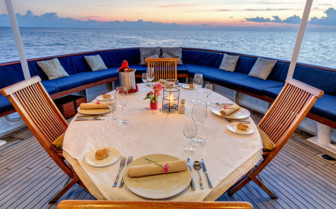 Picture of Dining onboard the Pelagian