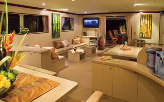Picture of the Saloon onboard the Pelagian