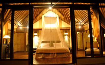 Picture of a Villa bedroom at Kura Kura Resort