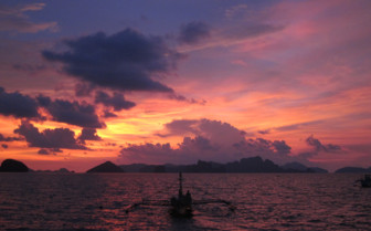 Picture of the Sunset at El Nido Lagen Island Resort