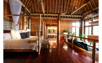 Picture of a bure bedroom at Namale Fiji Resort & Spa