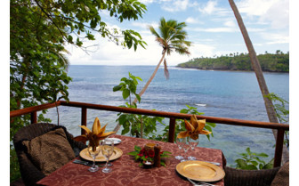 Picture of oceanfront dining at Namale Fiji Resort & Spa