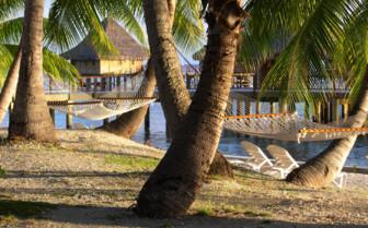 Picture of a beach hammock at Hotel Kia Ora