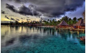 Picture of water villas at Hotel Kia Ora