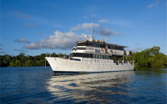 Picture of the FeBrina dive boat at Walindi Plantation Resort