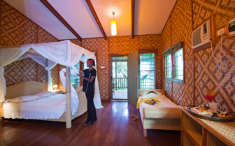 Picture of a double room at Tufi Dive Resort