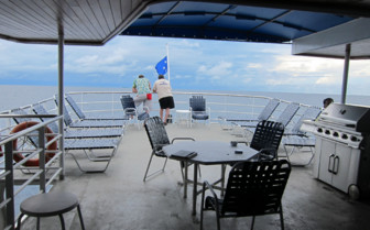 Picture of the sun deck onboard The Odyssey