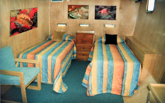 Picture of a twin cabin onboard The Odyssey