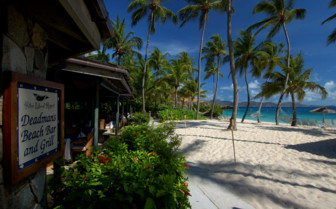 Picture of the beach restaurant on Peter Island
