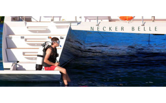 Picture of diving from Necker Belle