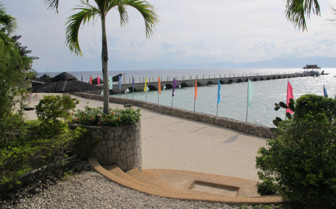 Picture of Kasai village beach and jetty