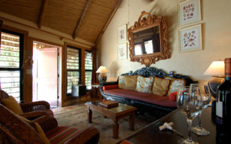 Picture of a bedroom's sitting room at Little Palm Island