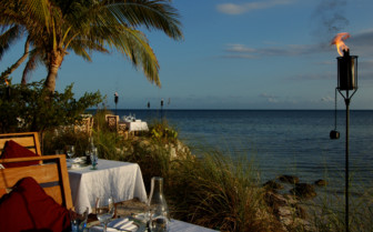 Picture of dining by the sea at Little Palm Island