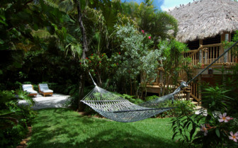 Picture of a hammock and garden at Little Palm Island