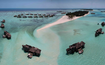 An Aerial View of Gili Lankanfushi