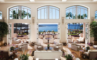 Lounge and terrace at Four Seasons Lana'i Manele Bay