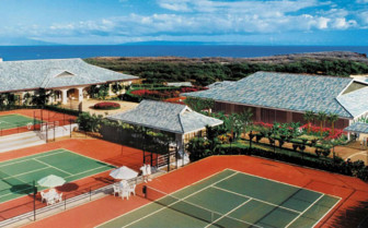 Tennis court at the hotel
