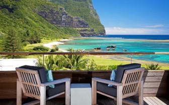 Capella Lodge views of the blue lagoon