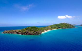 Aerial view of Kokomo Yaukuve Island