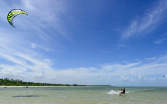 Kitesurfing in Mozambique