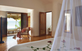 Deluxe Ocean View Bed at the Belmond Maroma Resort & Spa