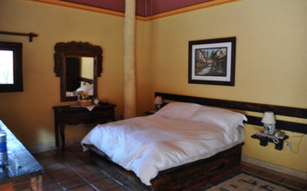 bedroom at Posada de las Flores, luxury hotel in Mexico