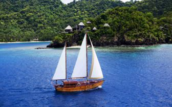Sailing at Laucala Island