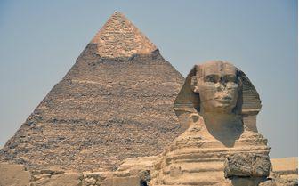 Pyramid and Sphynx