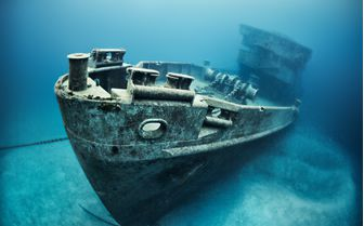 Ship Wreck Underwater