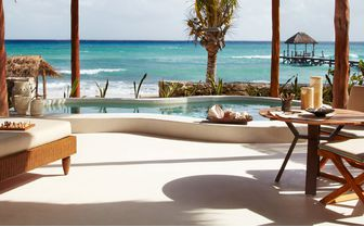 An image of the view from Beachfront villa at Viceroy Riviera Maya