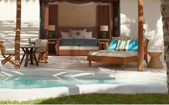 An image of Oceanview Villa Bed at Viceroy Riviera Maya,