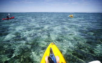 Picture of sea kayaking at Sal Salis, Ningaloo Reef