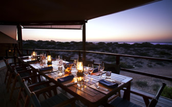 Picture of sunset dinner at Sal Salis, Ningaloo Reef