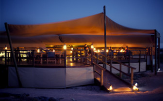 Picture of dinner at Sal Salis, Ningaloo Reef