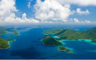 British Virgin Islands in the Caribbean