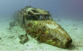 Plane wreck diving