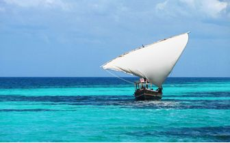 Traditional dhoni sailing in Tanzania