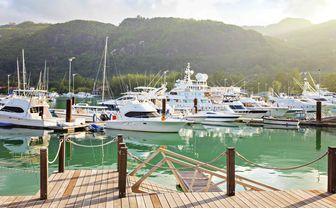 Boats in Pier, Seychelles