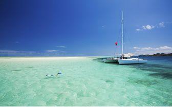 Snorkelling off boat, Fiji