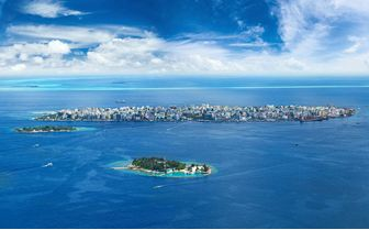 Male City Aerial, Central Atolls