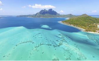 Aerial of Mount Otemanu, French Polynesia