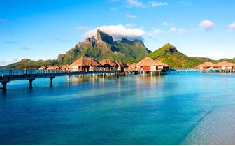 Bungalows over the water, French Polynesia