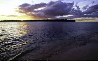 Beach at Sunset, New Ireland