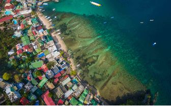 Aerial View of Puerto Galera, Philippines