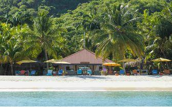 Luxury hotel beach cabana