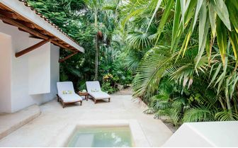 Plunge pool at a jungle suite of Hotel Esencia