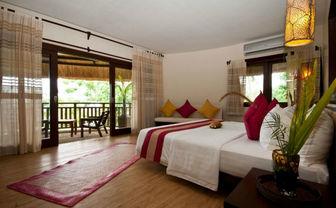 Red bedroom balcony